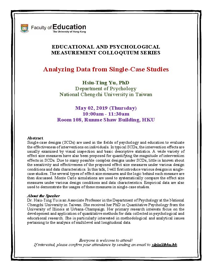 Analyzing Data from Single-Case Studies