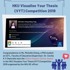 Online People's Choice Award in the HKU Visualise Thesis Competition 2019