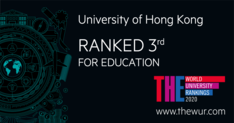 HKU Faculty of Education is ranked World Number 3 in the 2020 Times Higher Education (THE) World University Rankings by Subject