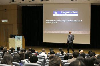 "Distinguished Lecture on ""Leading From the Middle Not Taking It From the Top"""